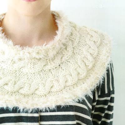 なわ編みスヌード