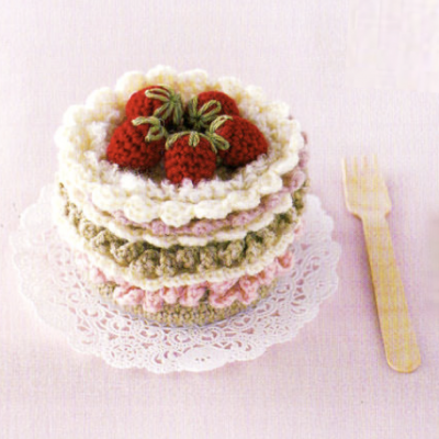 いちごケーキのコースター