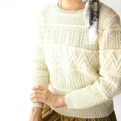 地模様のセーター